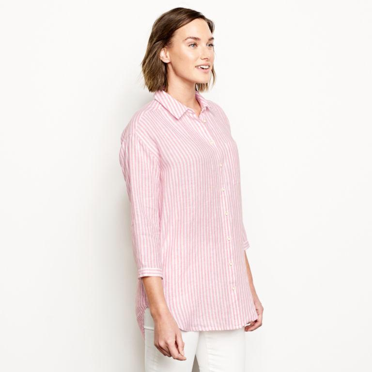 Lightweight Linen Striped Big Shirt -  image number 1