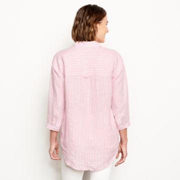 Lightweight Linen Striped Big Shirt -  image number 2