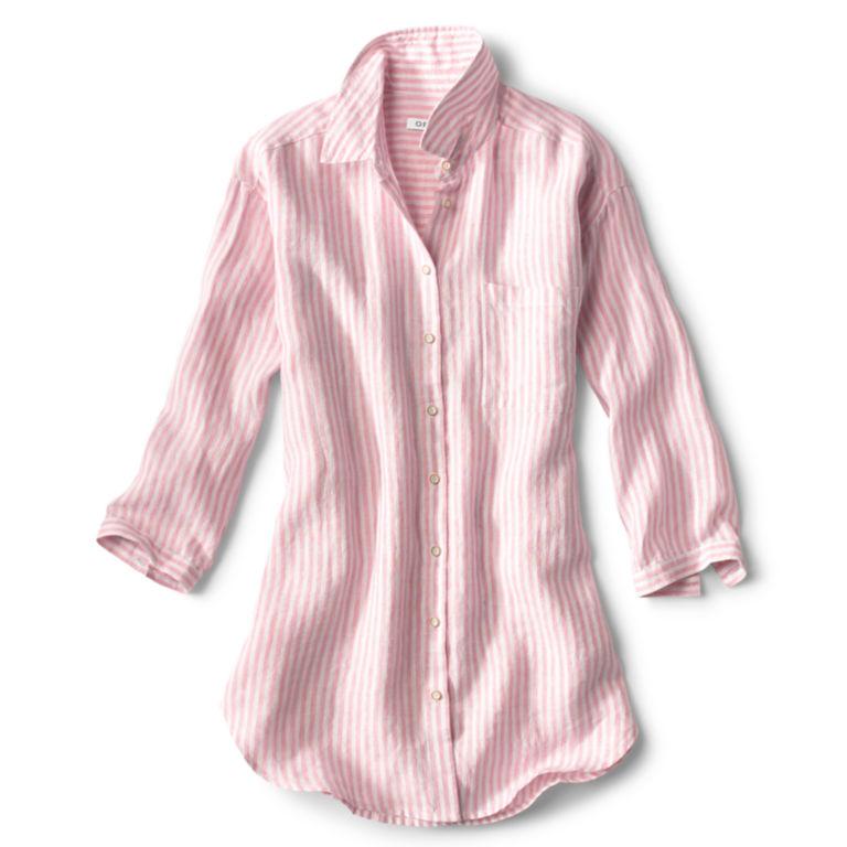 Lightweight Linen Striped Big Shirt -  image number 4