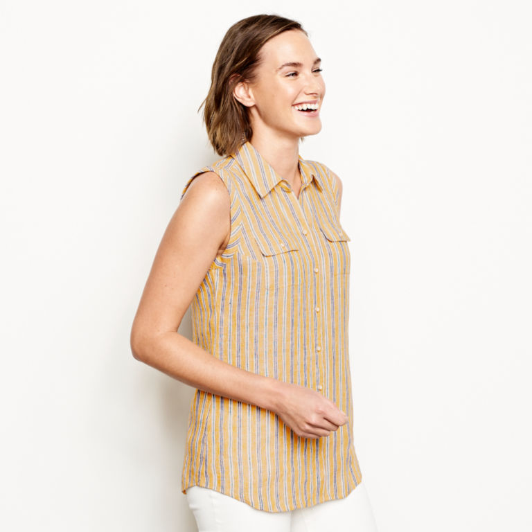 Lightweight Linen Sleeveless Shirt -  image number 1