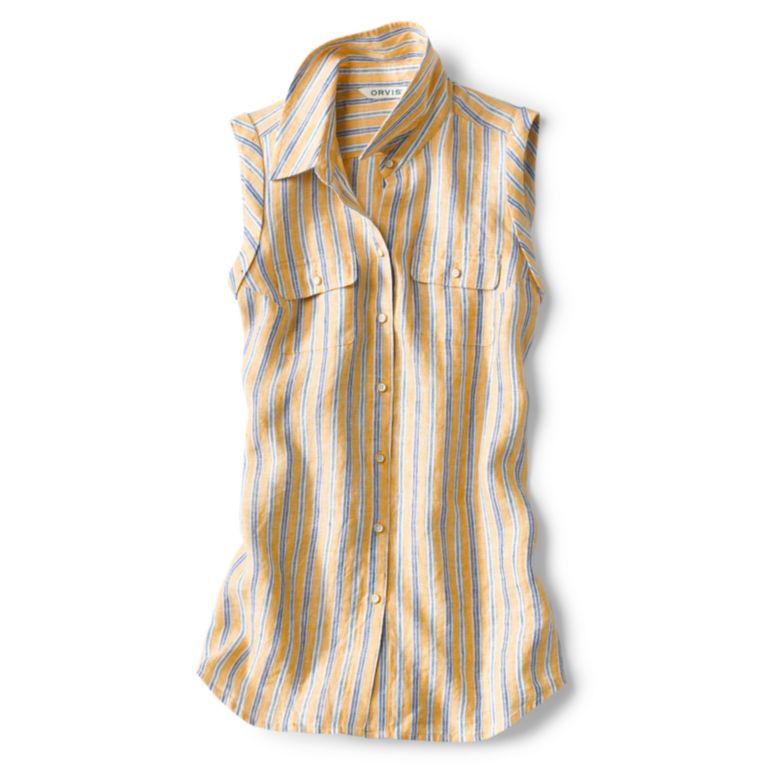 Lightweight Linen Sleeveless Shirt -  image number 4