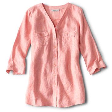 Lightweight Linen Three-Quarter-Sleeved Shirt -