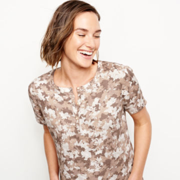 Printed Lightweight Linen Short-Sleeved Sweetwater®  Popover -  image number 3