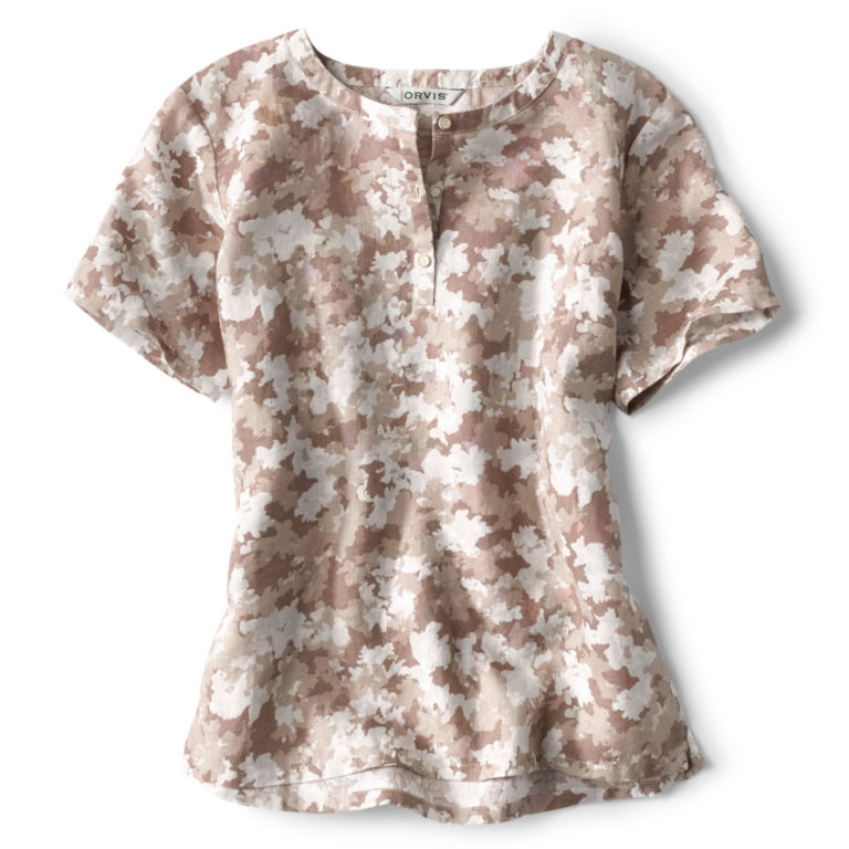 Printed Lightweight Linen Short-Sleeved Sweetwater®  Popover -  image number 4
