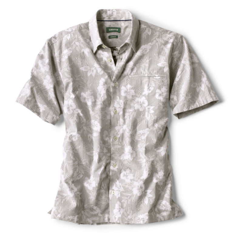 Reverse Print Dobby Short-Sleeved Shirt -  image number 0