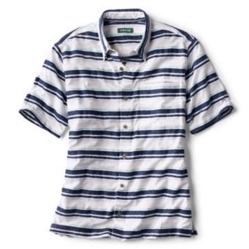 Horizontal Stripe Short-Sleeved Shirt -  image number 0
