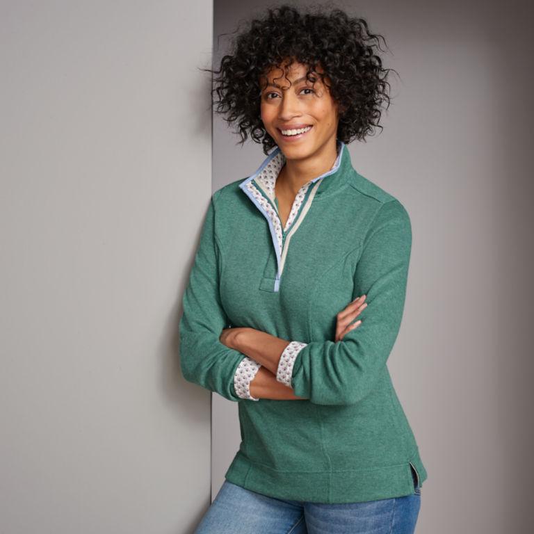Signature Softest Print-Trimmed Sweatshirt -  image number 1
