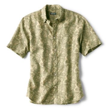 Linen Island-Print Short-Sleeved Shirt -  image number 1