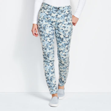 Printed Four-Way Stretch Ankle Pants -