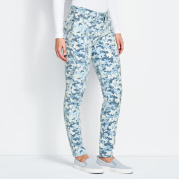 Printed Four-Way Stretch Ankle Pants -  image number 1