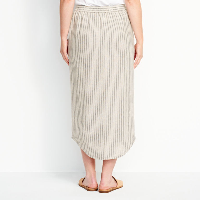 Orvis Performance Linen Striped Button-Front Skirt -  image number 2