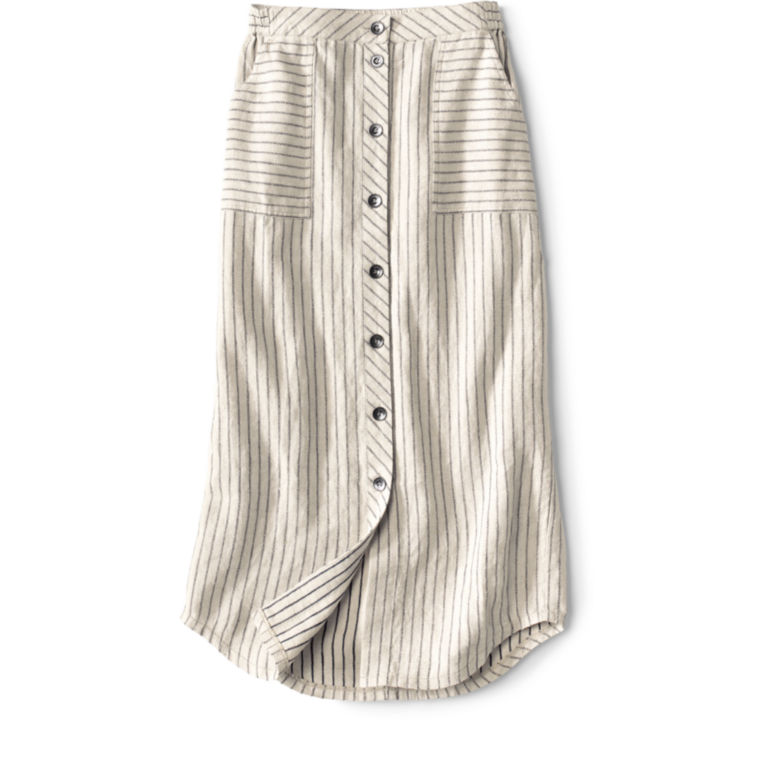 Orvis Performance Linen Striped Button-Front Skirt -  image number 4