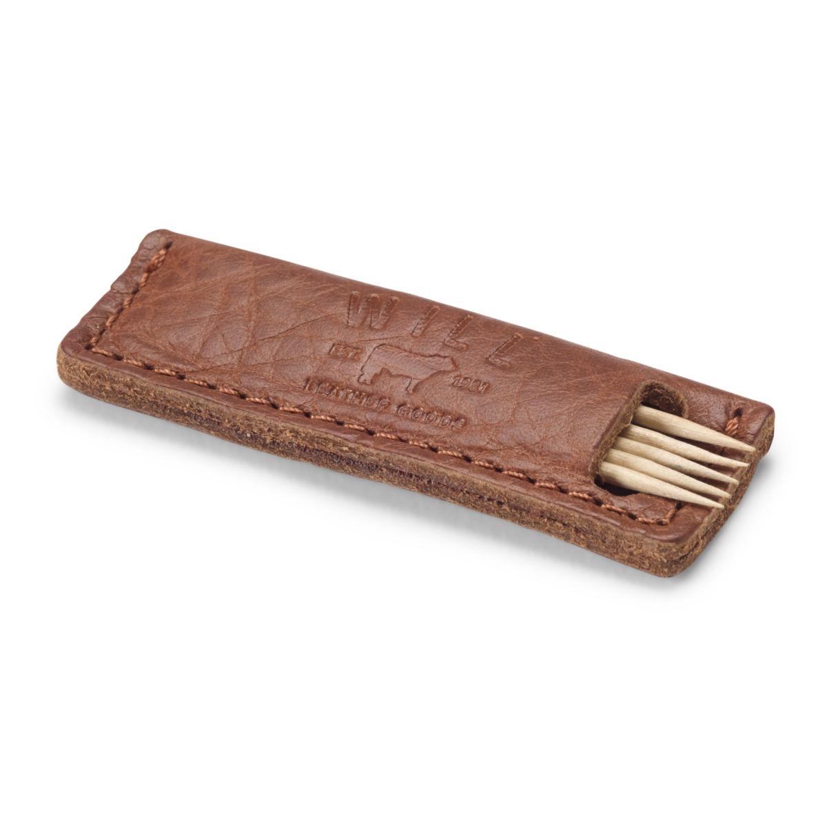 Leather Toothpick Holder - image number 0