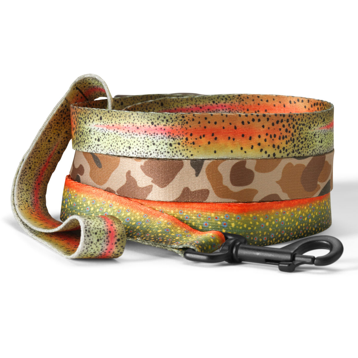 Trout & Camo Print Dog Leash - image number 0