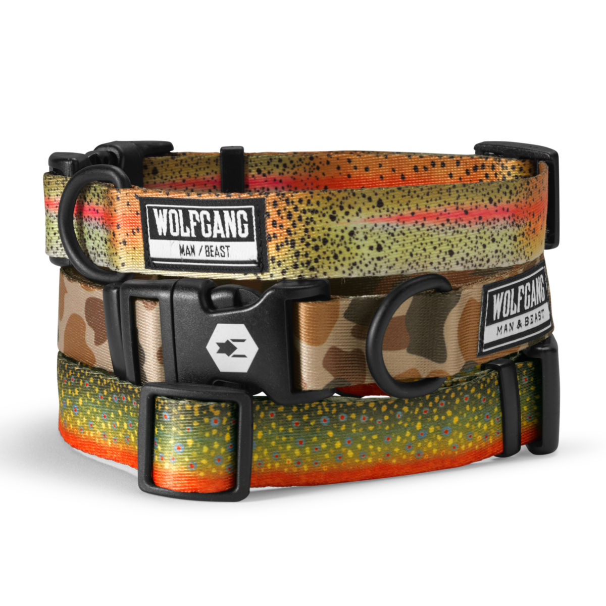 Trout & Camo Print Dog Collars - image number 0