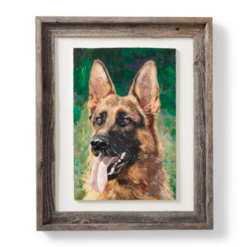 Custom Dog Oil Painting - Framed -  image number 1