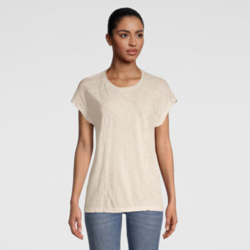 Moab Embroidered Dolman Tee - SNOW image number 0