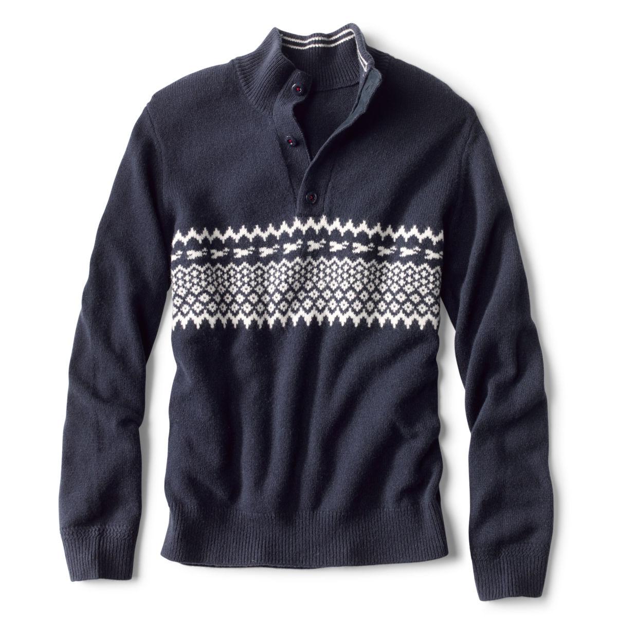 Nordic Chest Stripe Quarter-Zip Sweater - image number 0