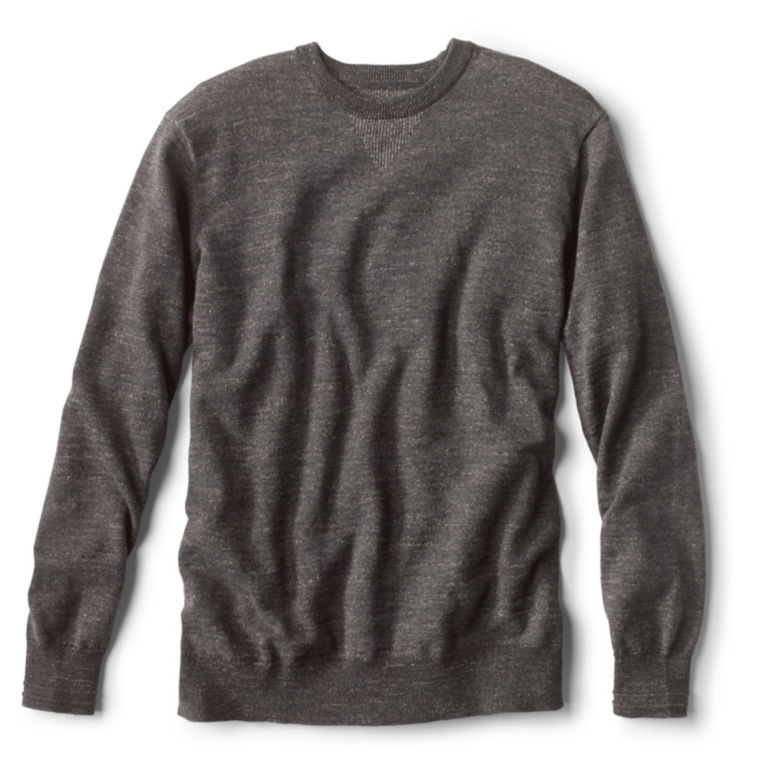Plaited Crewneck Sweater - CHARCOAL image number 0