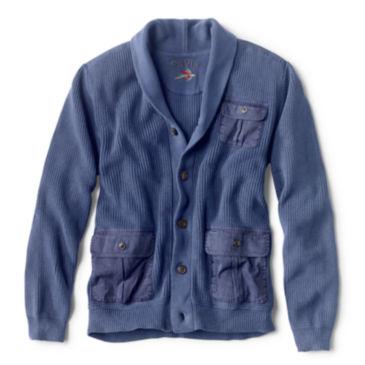 Garment-Dyed Shawl Cardigan -