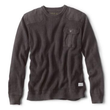 Garment-Dyed Army Crewneck Sweater -