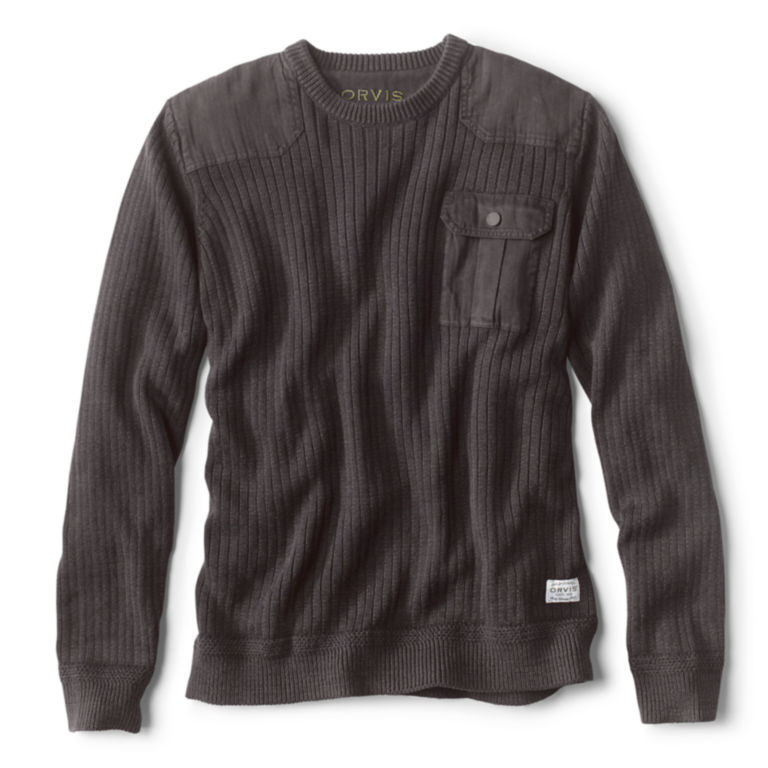 Garment-Dyed Army Crewneck Sweater -  image number 0