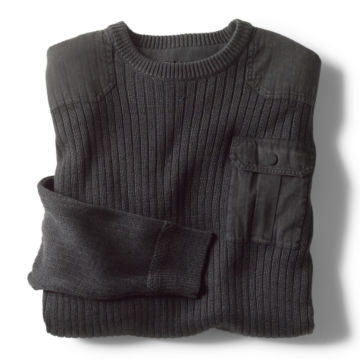 Garment-Dyed Army Crewneck Sweater -  image number 1