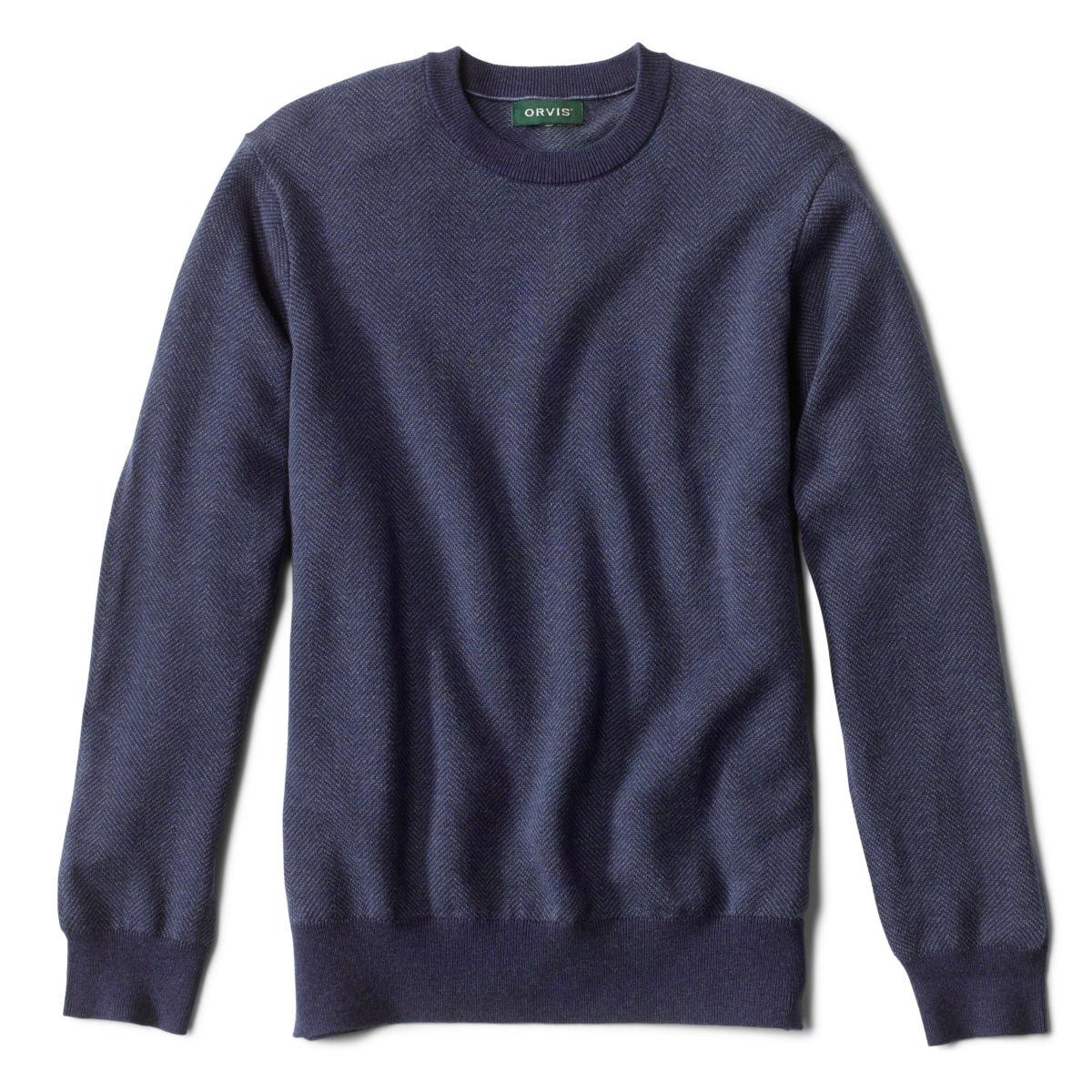 Herringbone Cotton/Silk/Cashmere Crewneck - image number 0