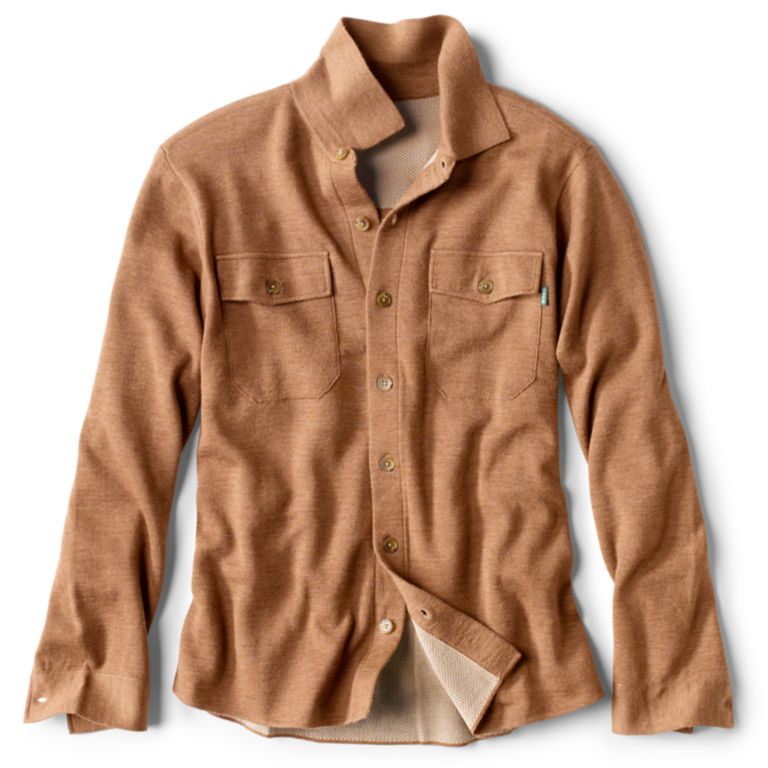 Doubleface Sweater Shirt-Jacket - VICUNA image number 0