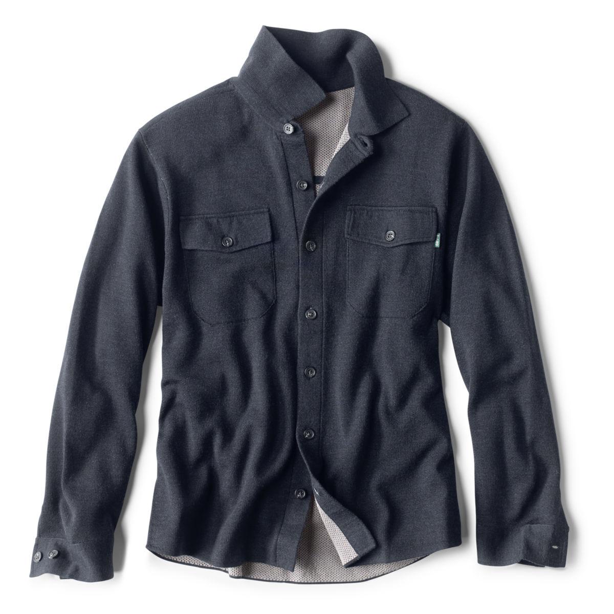 Doubleface Sweater Shirt-Jacket - NAVYimage number 0