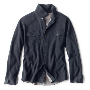 Doubleface Sweater Shirt-Jacket - NAVY image number 0