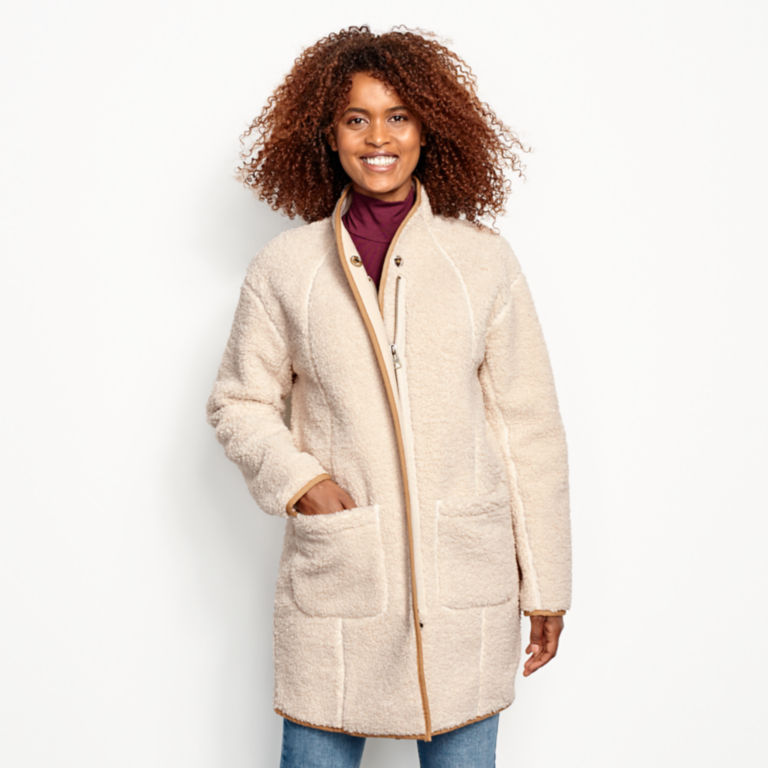 Sherpa Cozy Cocoon Coat - NATURAL image number 1