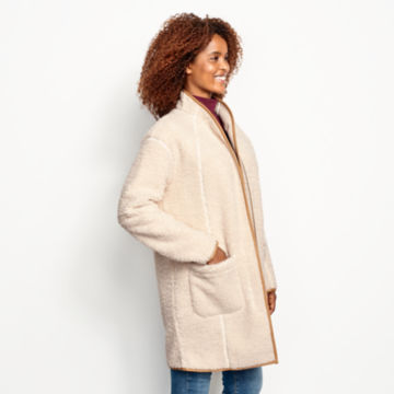 Sherpa Cozy Cocoon Coat - NATURAL image number 2