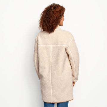 Sherpa Cozy Cocoon Coat - NATURAL image number 3