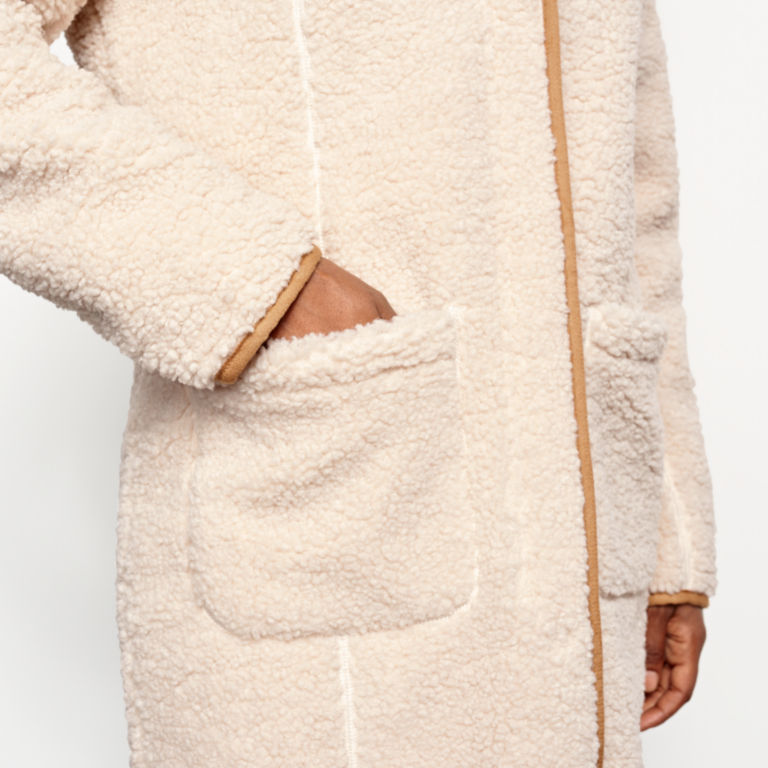 Sherpa Cozy Cocoon Coat - NATURAL image number 5