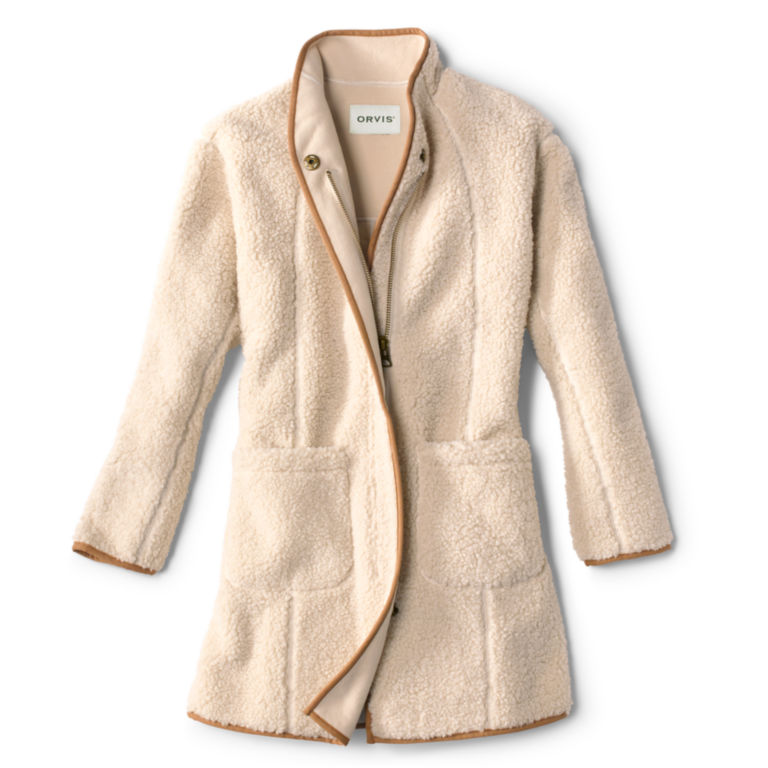 Sherpa Cozy Cocoon Coat - NATURAL image number 0