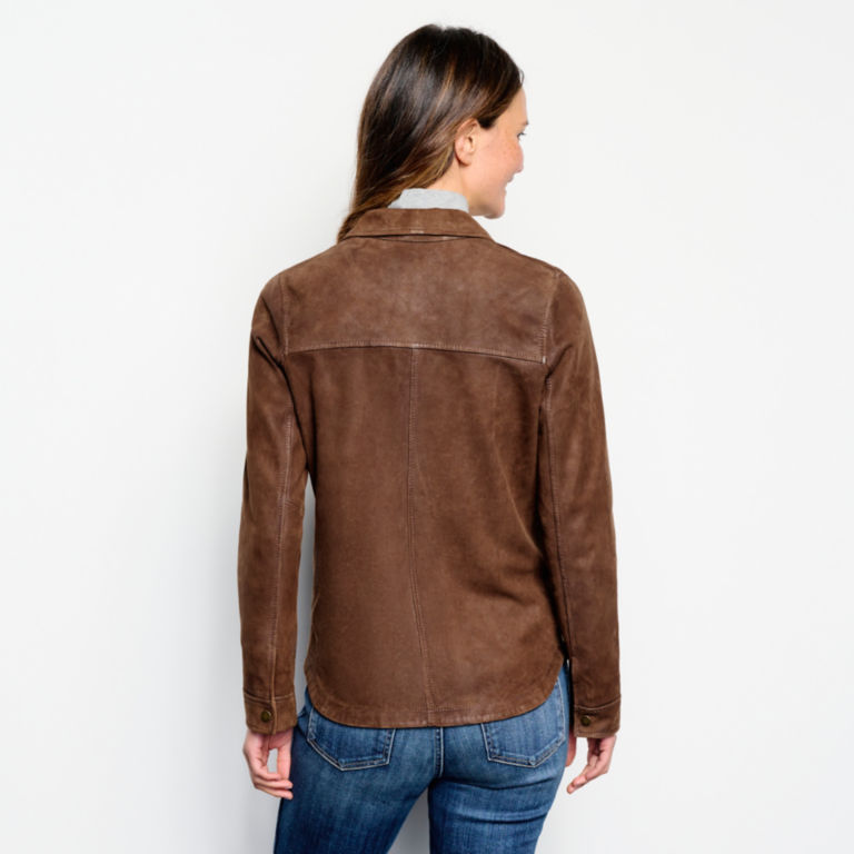 Big Sky Nubuck Shirt Jacket - TOBACCO image number 3