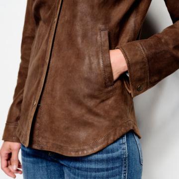 Big Sky Nubuck Shirt Jacket - TOBACCO image number 5