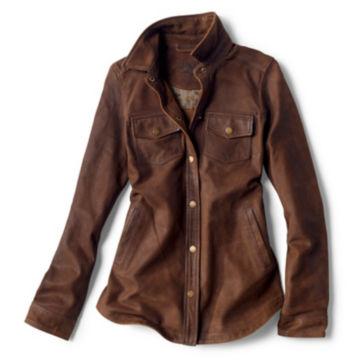 Big Sky Nubuck Shirt Jacket - TOBACCO image number 0