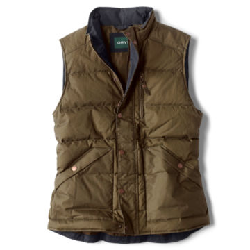 Waxed Down Puffer Vest -  image number 0