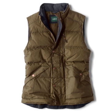 Waxed Down Puffer Vest -