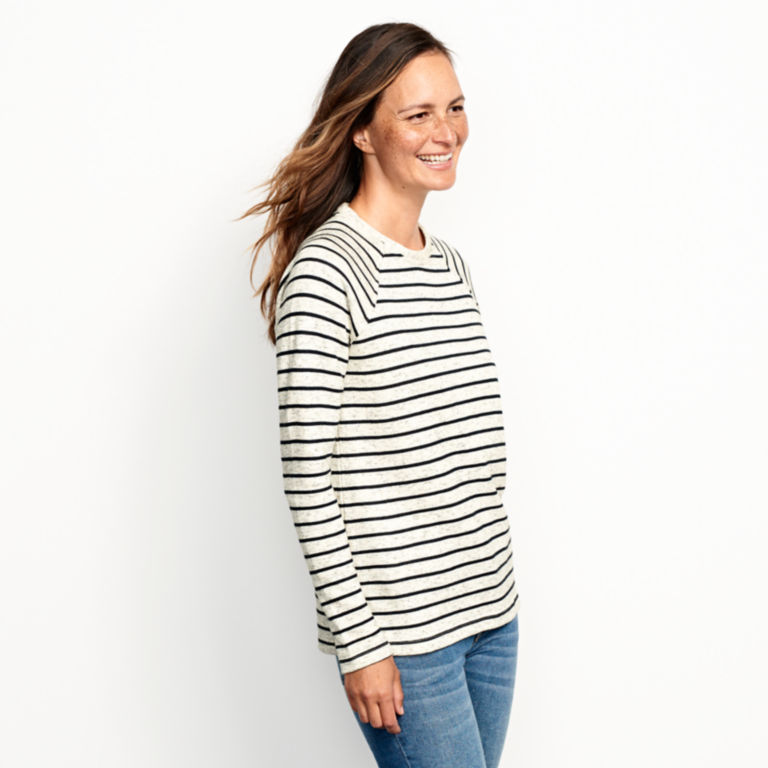 Marled Striped Sweatshirt -  image number 2