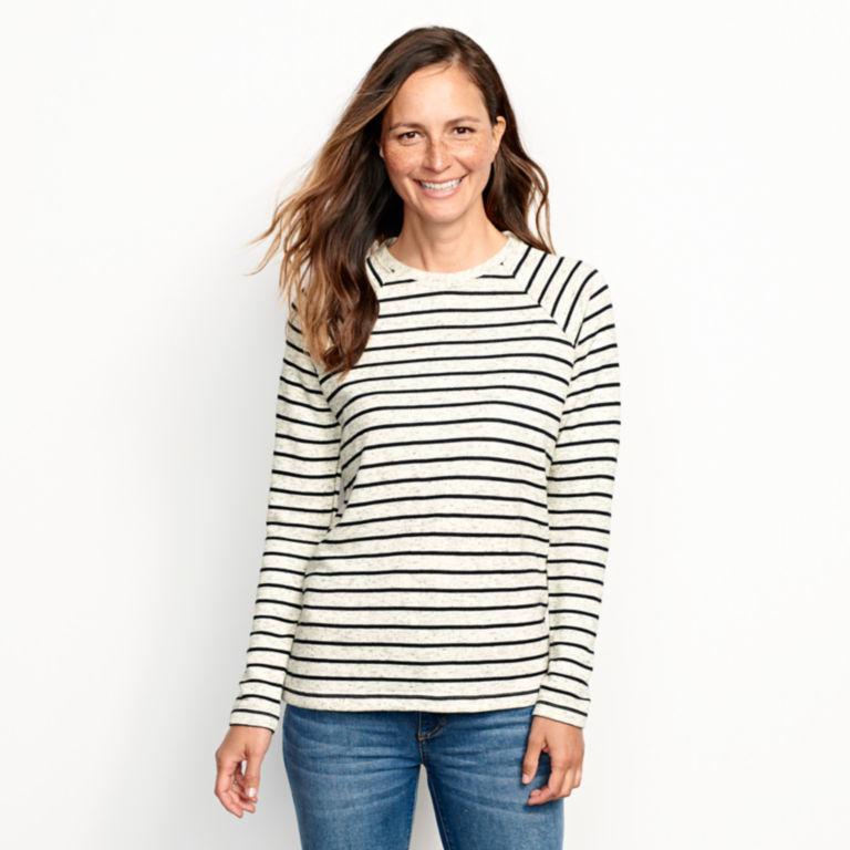 Marled Striped Sweatshirt -  image number 0