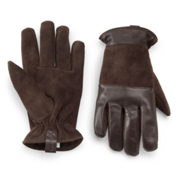 Rugged Leather/Suede Gloves -  image number 0