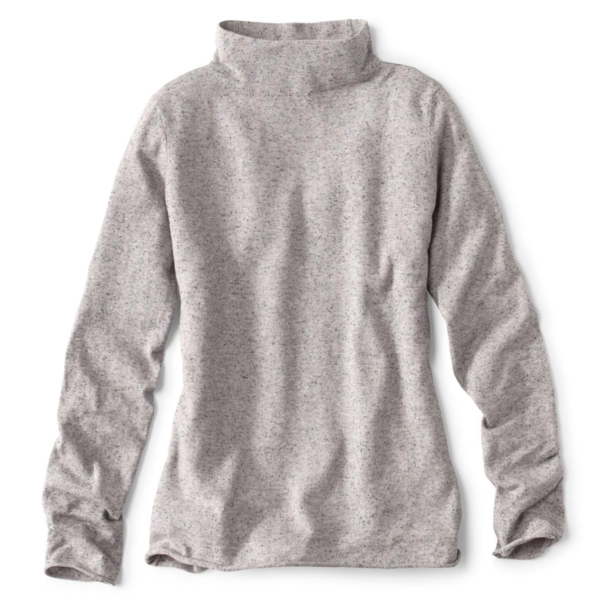 Cotton/Cashmere Donegal Mockneck Sweater - image number 0