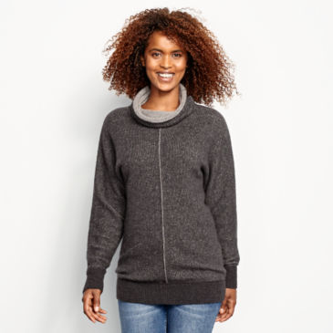 Cashmere Cowlneck Lounge Sweater -