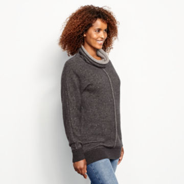 Cashmere Cowlneck Lounge Sweater -  image number 1