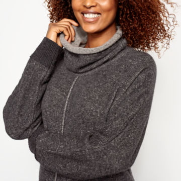 Cashmere Cowlneck Lounge Sweater -  image number 3