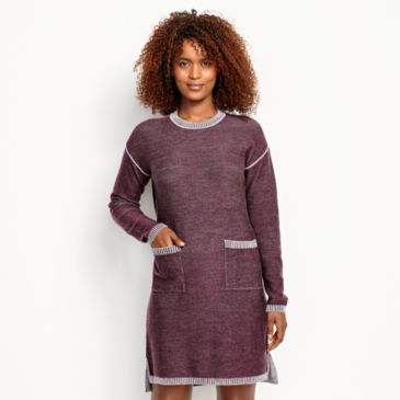 Two-Tone Signature Merino Sweater Dress -