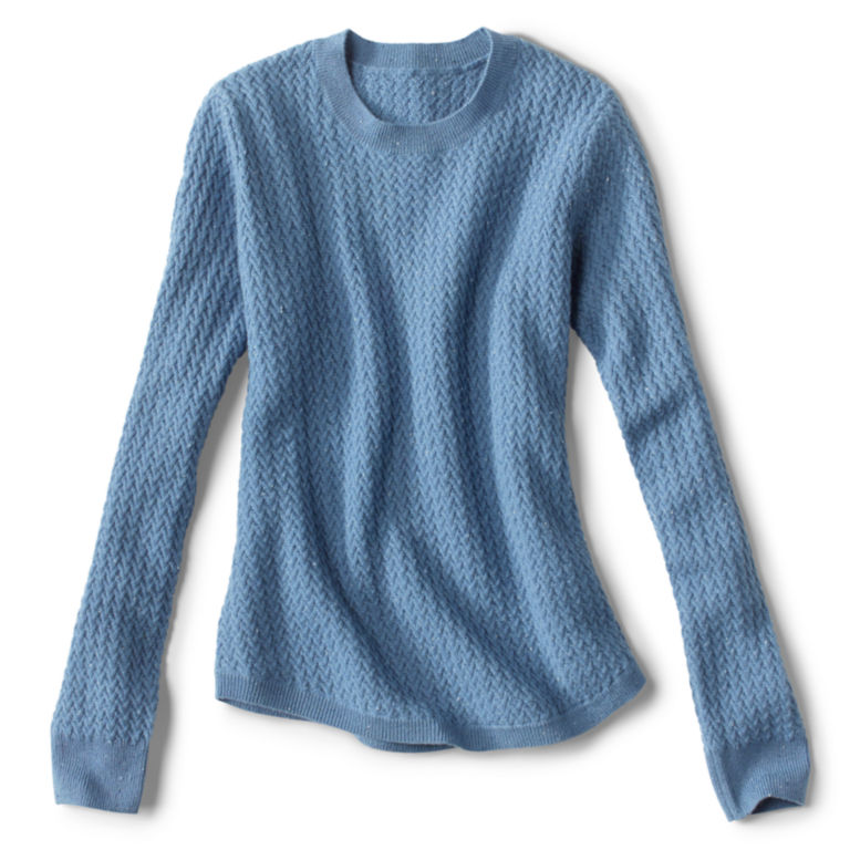 Donegal Crew Textured-Stitch Sweater - DUSTY BLUE image number 0